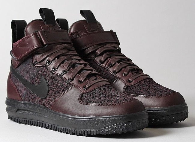 Nike Lunar Force 1 Flyknit Workboot Deep Burgundy
