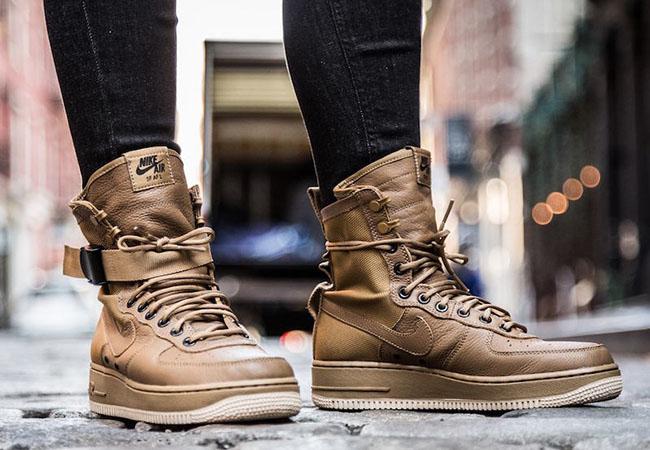 air force 1 high on feet