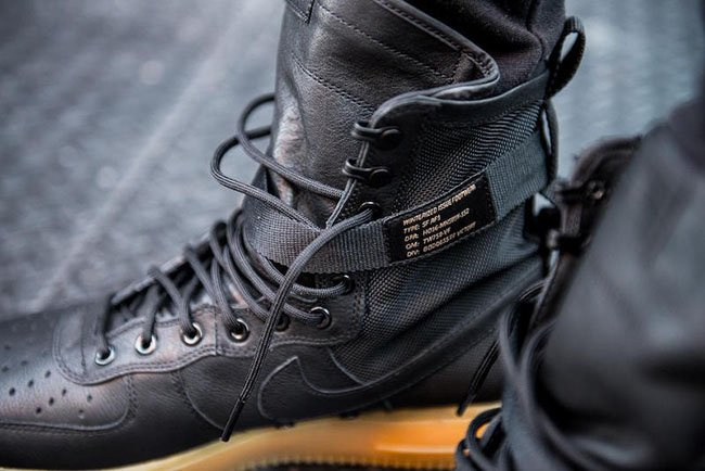 online store cea5d 1531a Nike Air Force 1 High Black On Feet extreme-hosting.co.uk