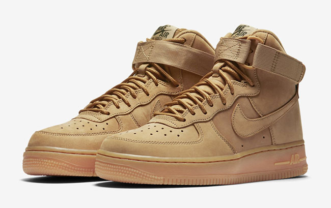 check out 3a358 f8068 Nike WMNS Air Force 1 High Wheat Release Date