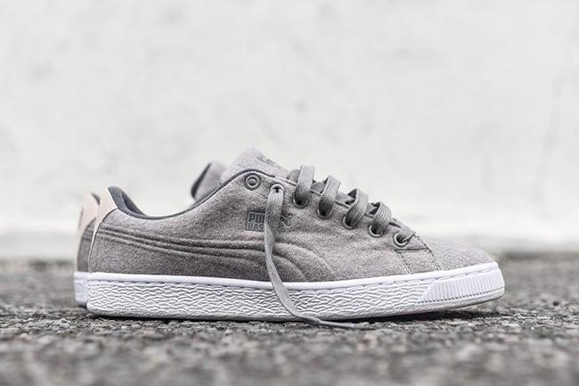 Puma Basket Classic Wool Steel Grey