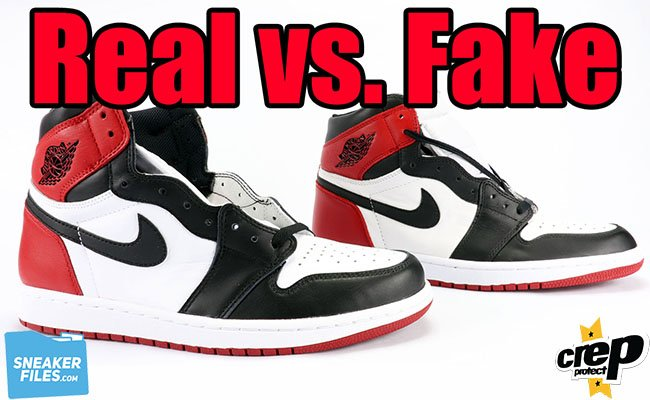 Real Fake Unauthorized Air Jordan 1 Black Toe