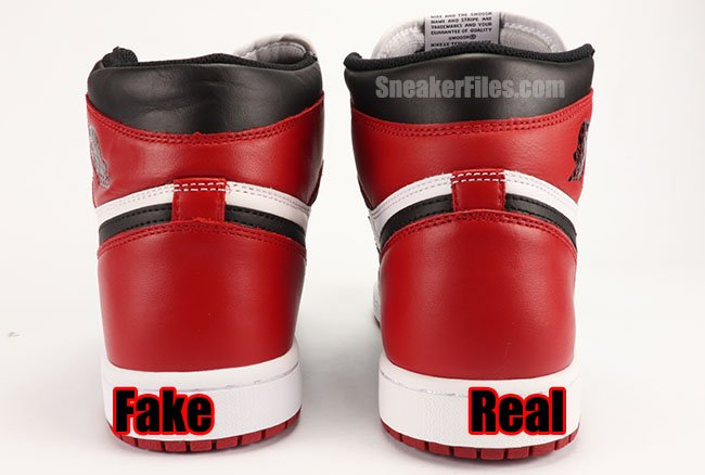ffde723ae59a Real Fake Unauthorized Air Jordan 1 Black Toe