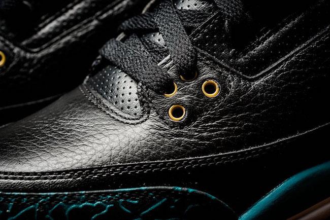 Rio Teal Air Jordan 3 GS Black