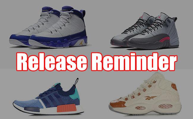 Sneakers Release November 18 19 2016