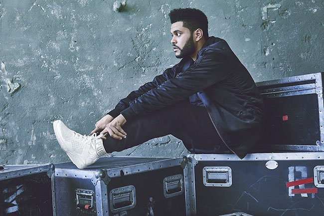 db31ac94946202 The Weeknd Puma Ignite EvoKnit White Olive