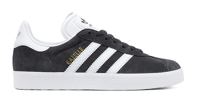 adidas gazelle white black
