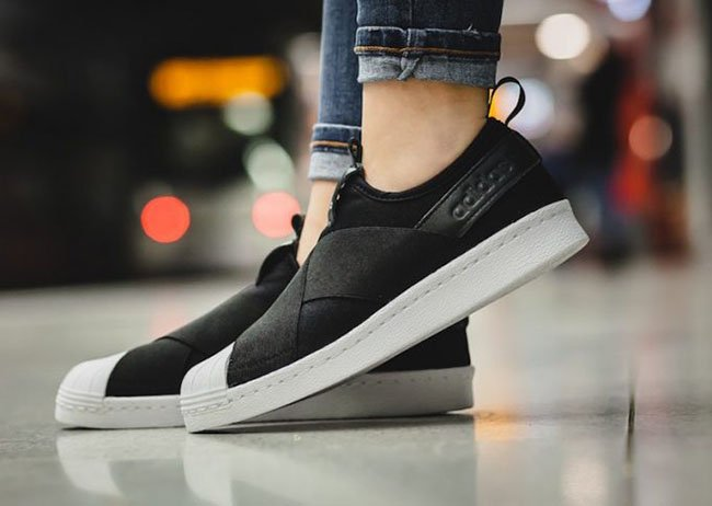 buy popular b7f04 4c5e2 adidas Superstar Slip-On Core Black White | SneakerFiles