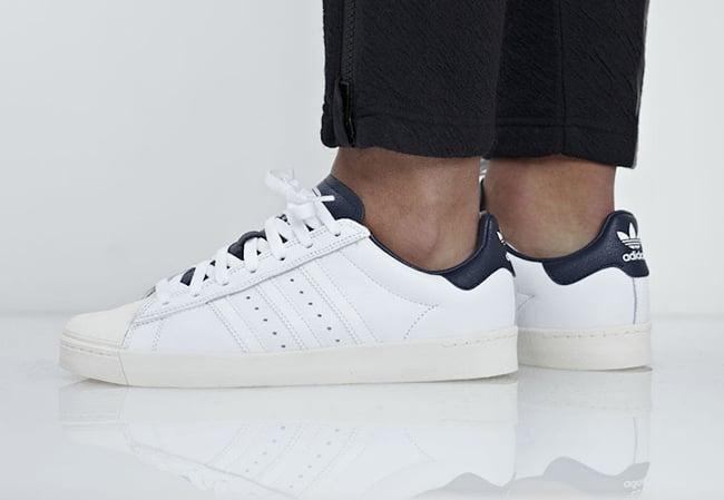 7422bbb455f adidas Superstar Vulc ADV White Leather B27392