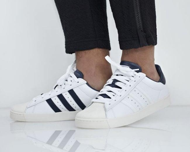 Dar permiso Reducción Desviar  adidas Superstar Vulc ADV White Leather B27392 | SneakerFiles