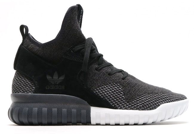 adidas Tubular X Primeknit (Charcoal Solid Grey Utility Black Crystal White)