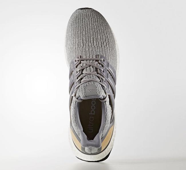 b1ba68890768b adidas Ultra Boost 3.0 Grey Leather Cage BB1092