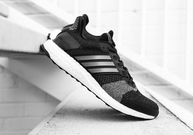 b40e289a2 adidas Ultra Boost ST in Black and White