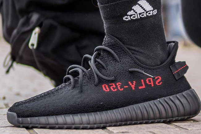 adidas Originals YEEZY BOOST 350 V2 Black/Red Raffle Purchase