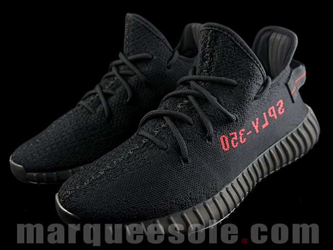 df6cfcf7da264 80% Off  Bred  yeezy boost 350 v2  black   red  CP 9652 uk Kim