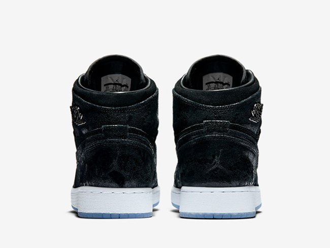 Air Jordan 1 Heiress Black Suede 2017