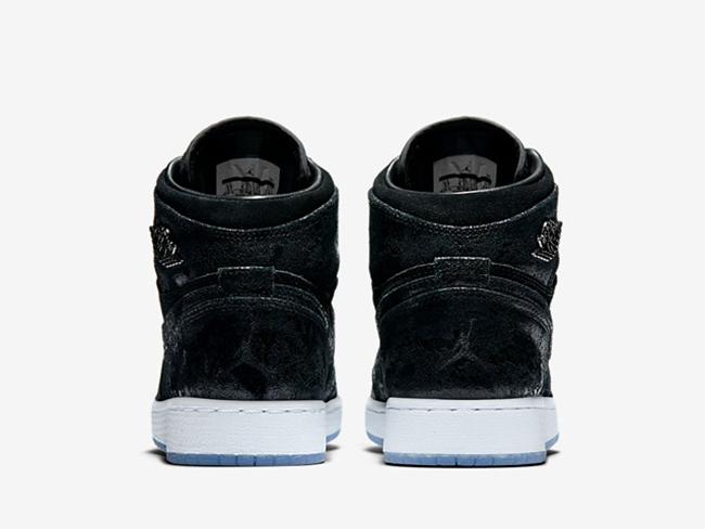 Air Jordan 1 Heiress Black Suede 2017