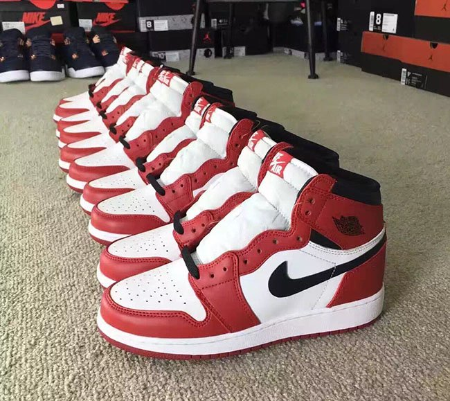 many styles big sale official Air Jordan 1 High OG Chicago 2017 | SneakerFiles