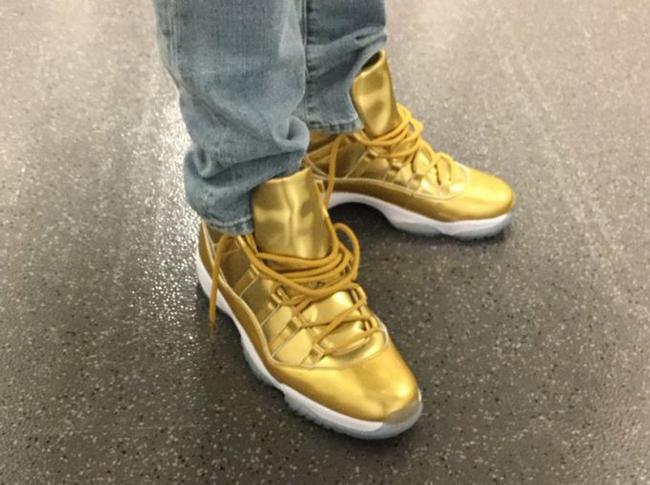 huge discount 47d45 05376 Air Jordan 11 Gold Kawhi Leonard