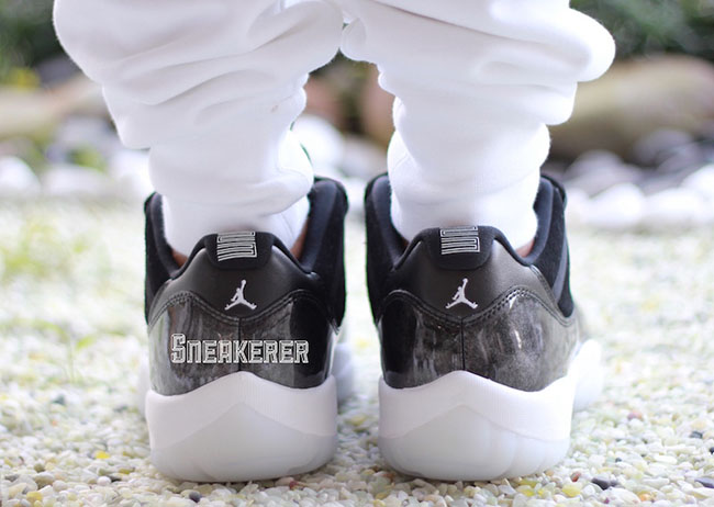 Air Jordan 11 Low Barons Retro On Feet