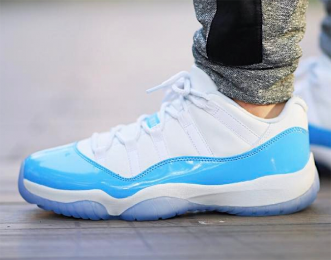 Air Jordan 11 Low Columbia 2017 On Feet