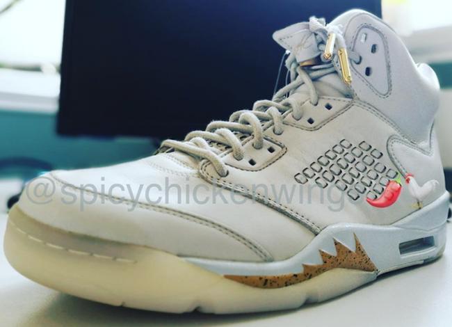 0eb48a1d7b0e Air Jordan 5 Take Flight White Gold Sample
