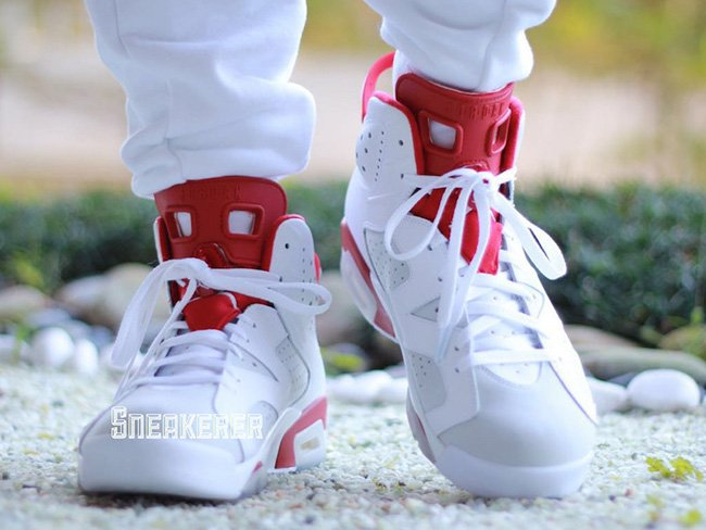 Air Jordan 6 Alternate On Feet