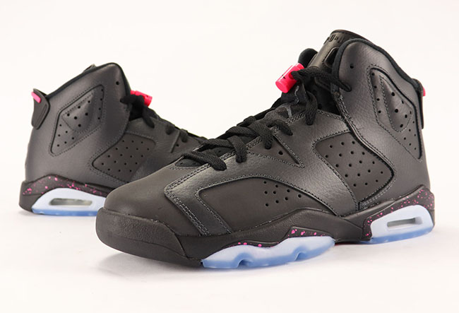 Air Jordan 6 GS Hyper Pink Anthracite Black 3M Review 2017