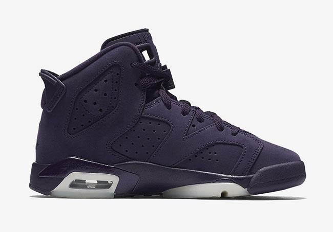 Air Jordan 6 Purple Dynasty Suede