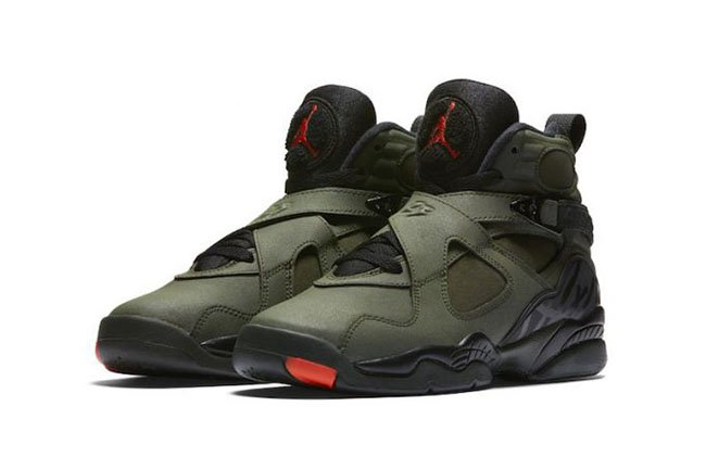 Air Jordan 8 Sequoia Orange GS