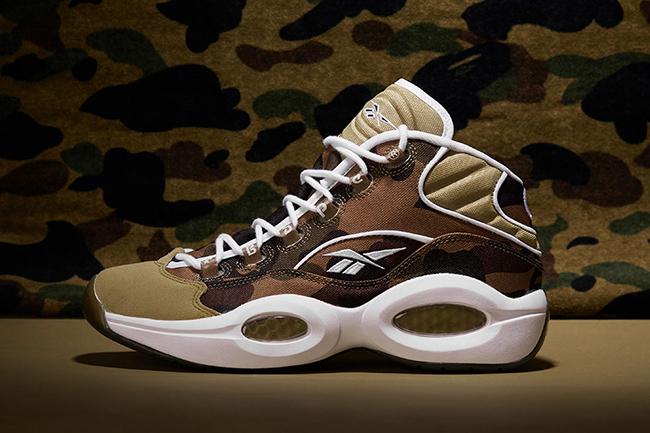 Bape x mita Sneakers x Reebok Question 1st Camo