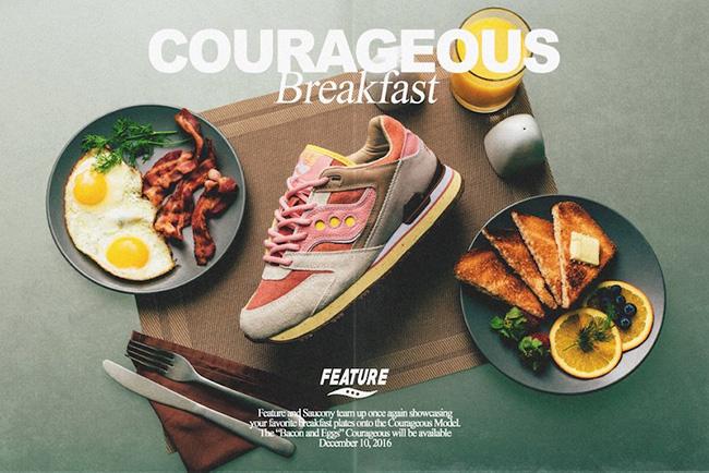 Feature x Saucony Courageous Bacon Eggs