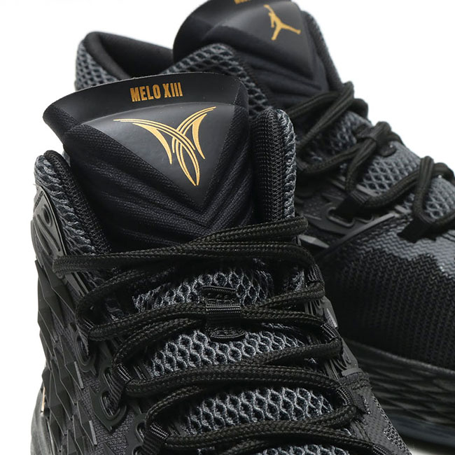 b656fe5726d875 Jordan Melo M13 in Black and Metallic Gold hot sale - arcsouthington.org