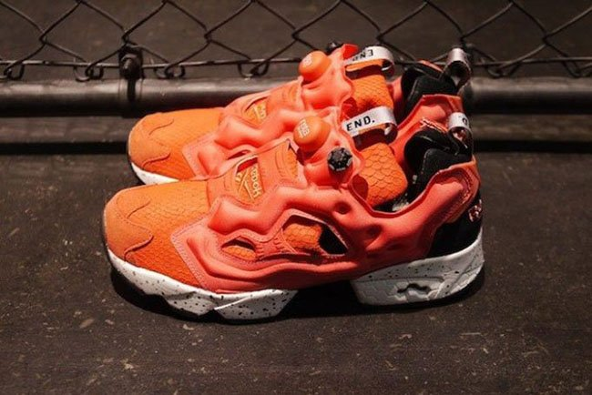 mita x END x Reebok Insta Pump Fury Salmon