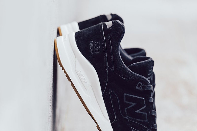 new arrival 36051 bb609 New Balance 530 Lux Black Suede