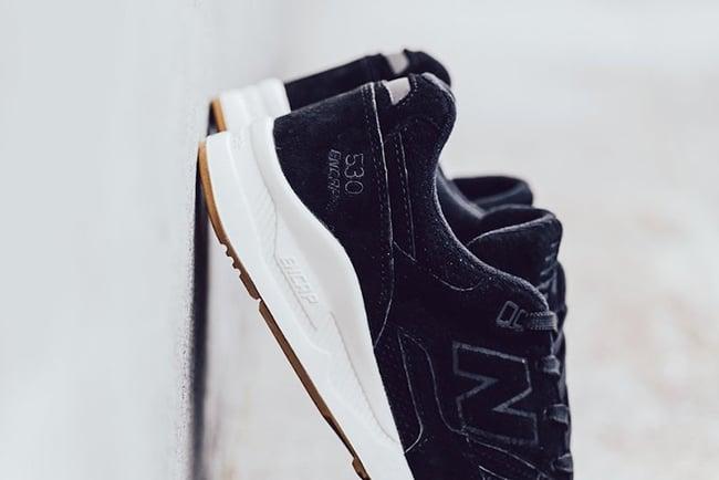 New Balance 530 Lux Black Suede