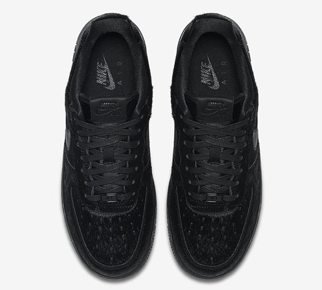 the latest 16574 1e6e5 Nike Air Force 1 Low Pony Hair Black 616725-006 | SneakerFiles