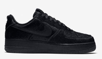 Nike Air Force 1 Low Pony Hair Black