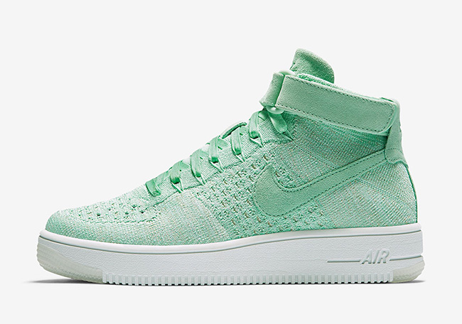 Nike Air Force 1 Mid Flyknit Enamel Green