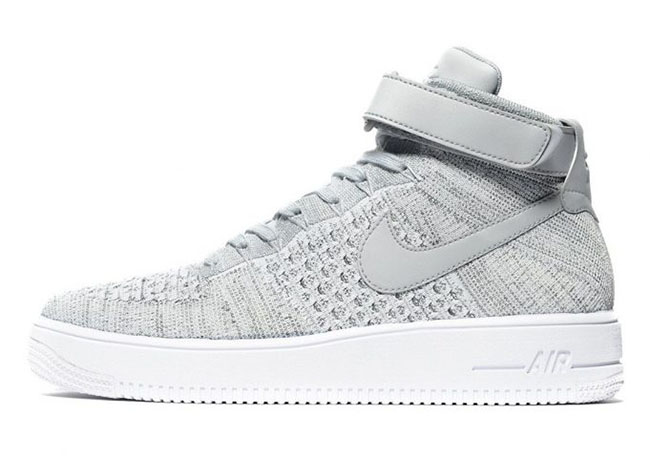 Nike Air Force 1 Ultra Flyknit Heather Grey | SneakerFiles