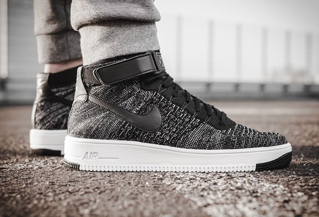 Nike Air Force 1 De Ultra Flyknit Negro Blanco VvQHBGV