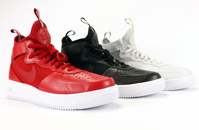 Nike Air Force 1 UltraForce Mid Review On Feet Red Black White Platinum