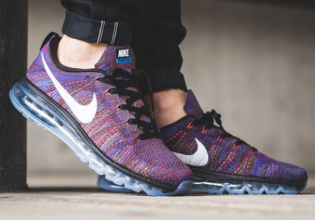 best sneakers 112ac e6751 Nike Air Max Flyknit Multicolor Blue Red