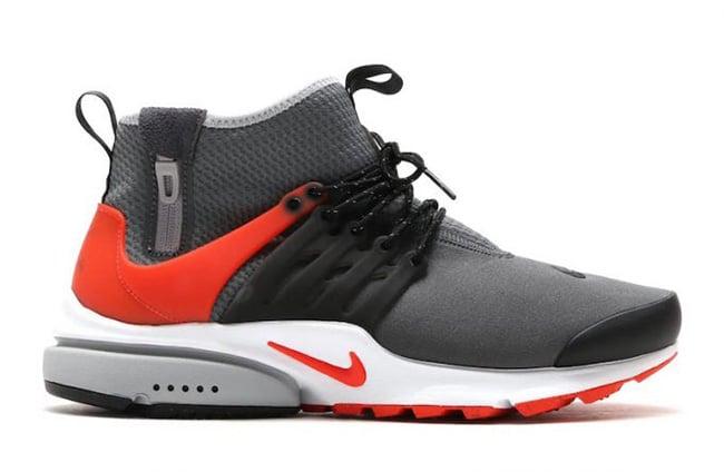 Nike Air Presto Mid Utility Dark Grey Max Orange