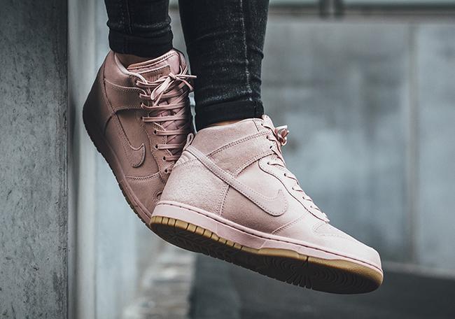 Nike Dunk High Premium Oxford Pink