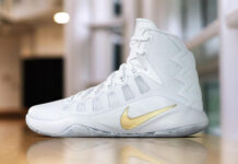 Nike Hyperdunk 2016 White Gold Christmas Day PE