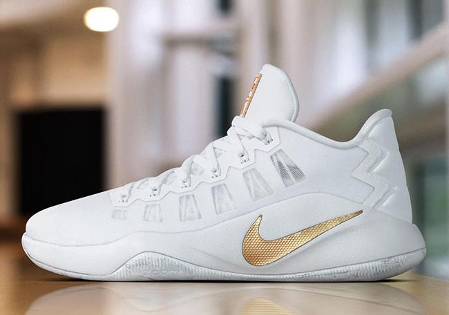 Nike Hyperdunk 2016 Low White Gold Christmas 2016 PE