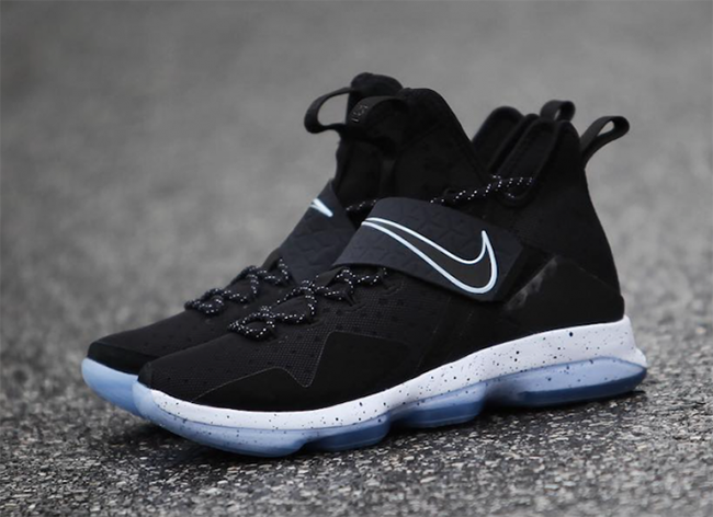 buy popular 180f7 79bd3 Nike LeBron 14 Black Ice 921084-002 Release Date | SneakerFiles