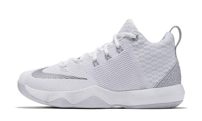 Nike LeBron Ambassador 9 White Metallic Silver