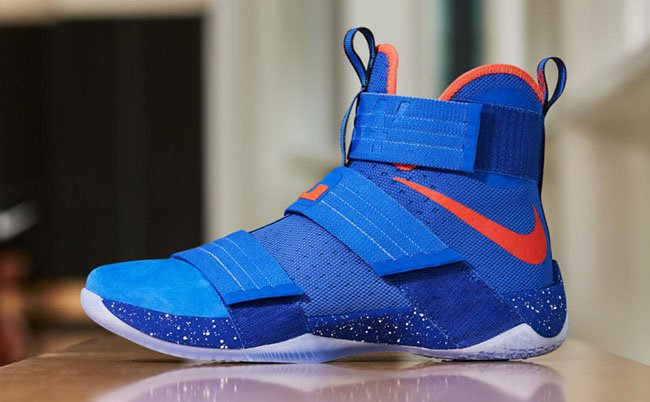 Nike LeBron Soldier 10 Hardwood Classics Cavs Blue Orange